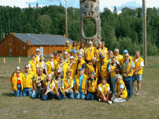 Group with Totem Pole